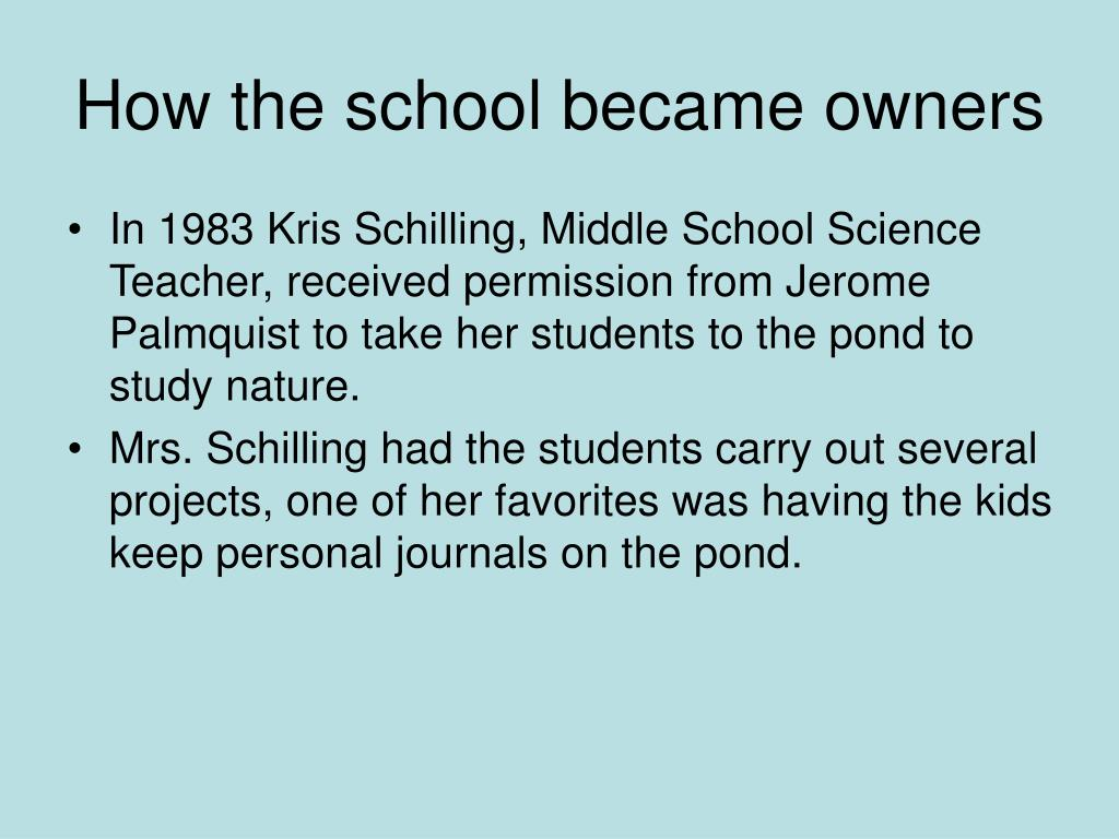 How the school became owners