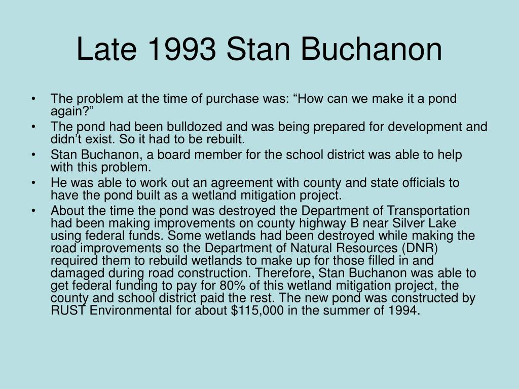 Late 1993 Stan Buchanon