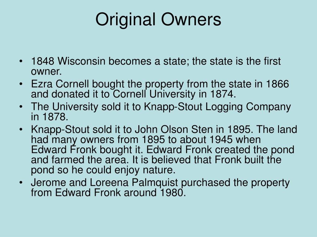 Original Owners