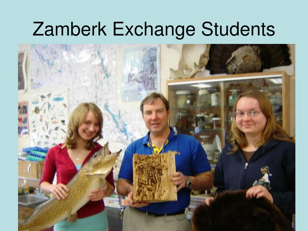 Zamberk Exchange Students