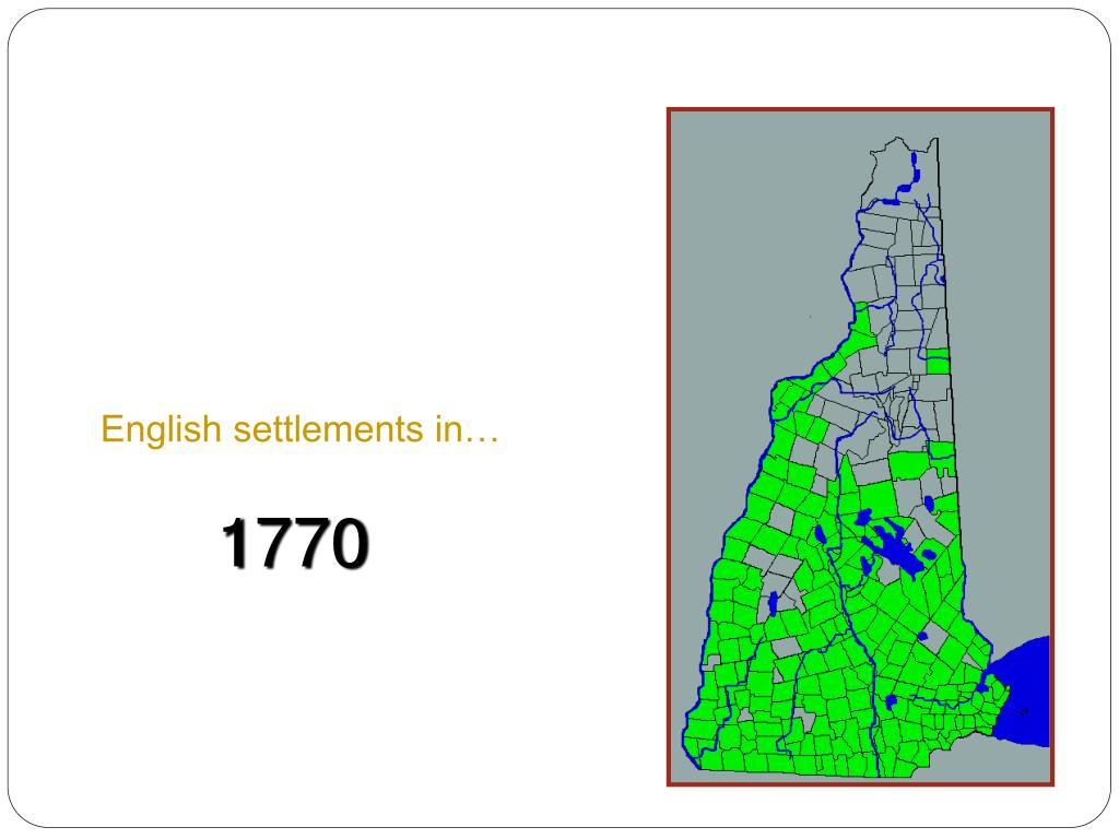 English settlements in