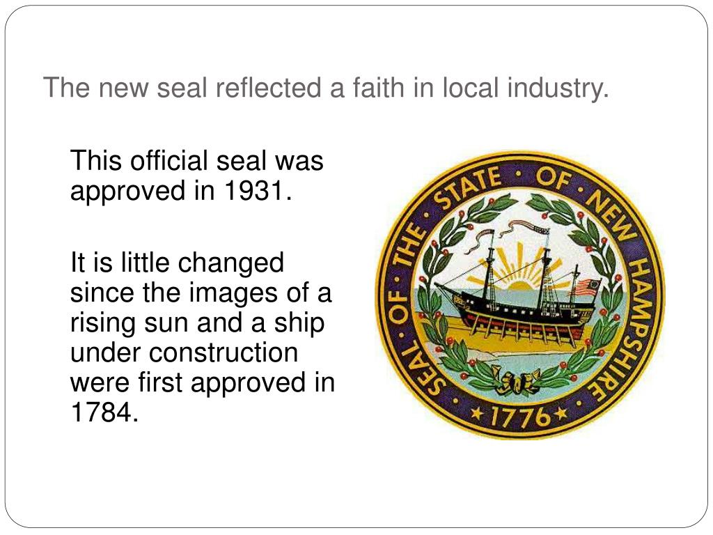 The new seal reflected a faith in local industry.