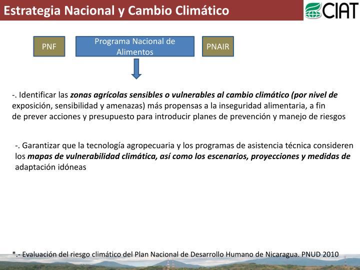Estrategia Nacional y Cambio Climático