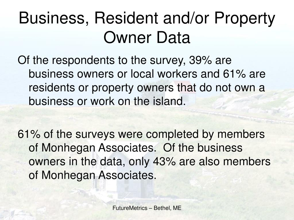 Business, Resident and/or Property Owner Data