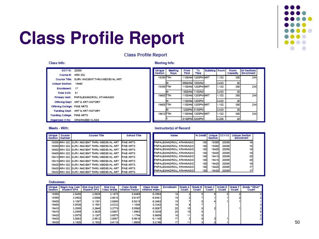 Class Profile Report