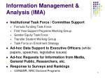 information management analysis ima5