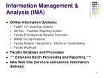 information management analysis ima6