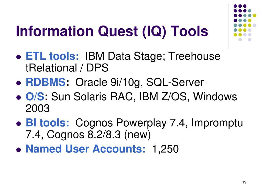 Information Quest (IQ) Tools