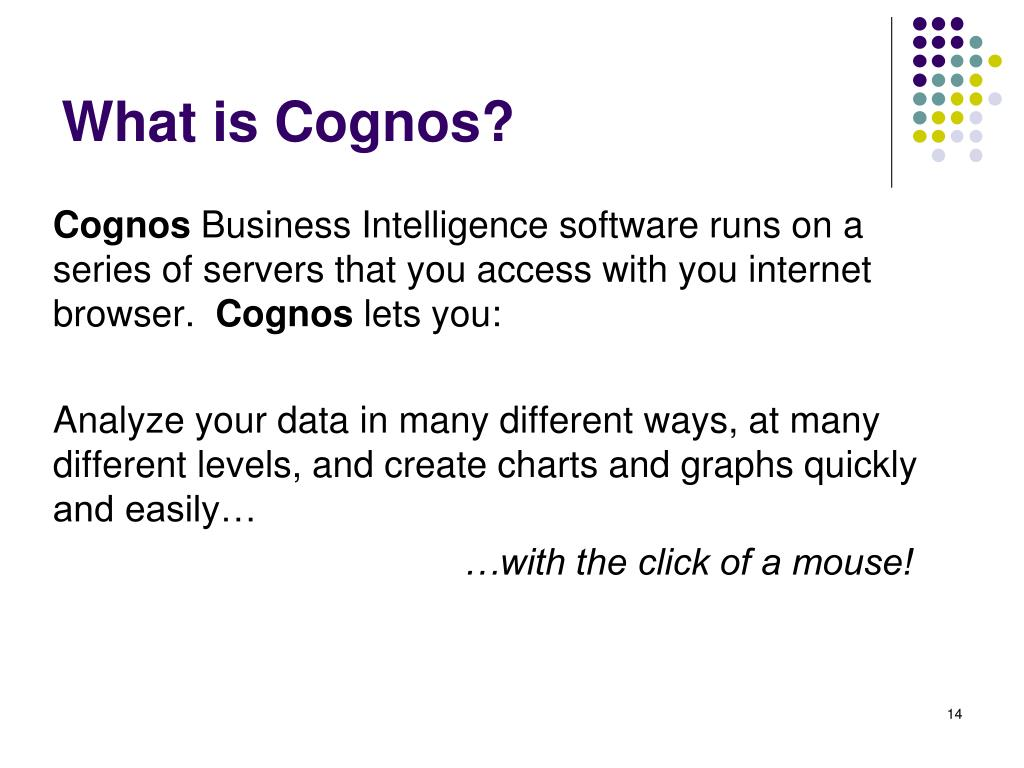 What is Cognos?