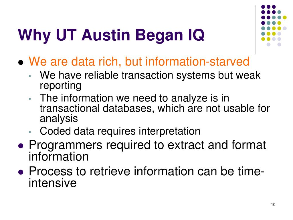 Why UT Austin Began IQ