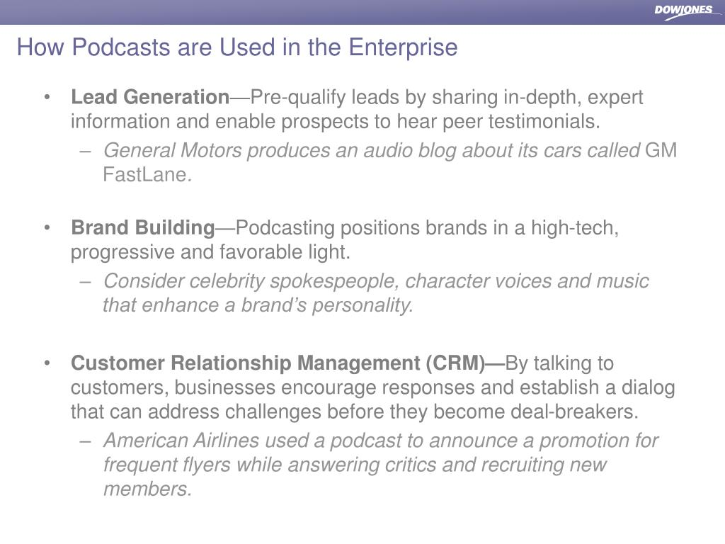How Podcasts are Used in the Enterprise