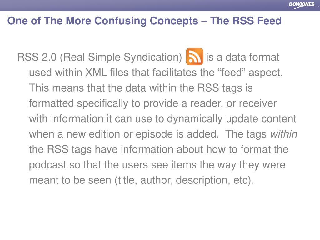 One of The More Confusing Concepts – The RSS Feed