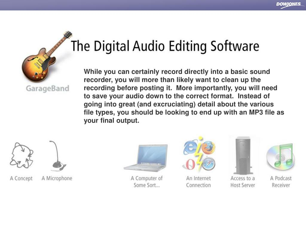 While you can certainly record directly into a basic sound recorder, you will more than likely want to clean up the recording before posting it.  More importantly, you will need to save your audio down to the correct format.  Instead of going into great (and excruciating) detail about the various file types, you should be looking to end up with an MP3 file as your final output.
