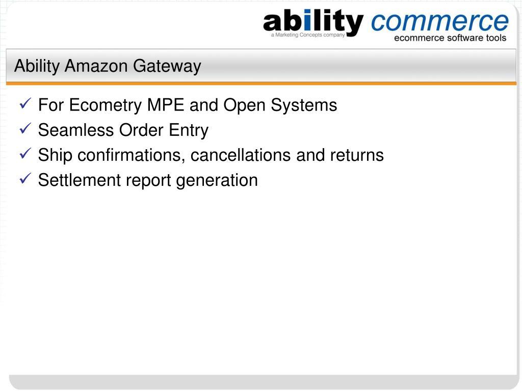 Ability Amazon Gateway