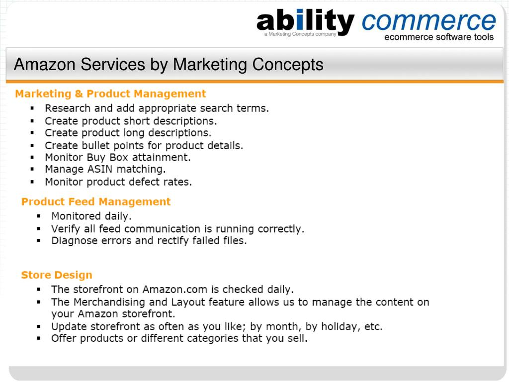 Amazon Services by Marketing Concepts