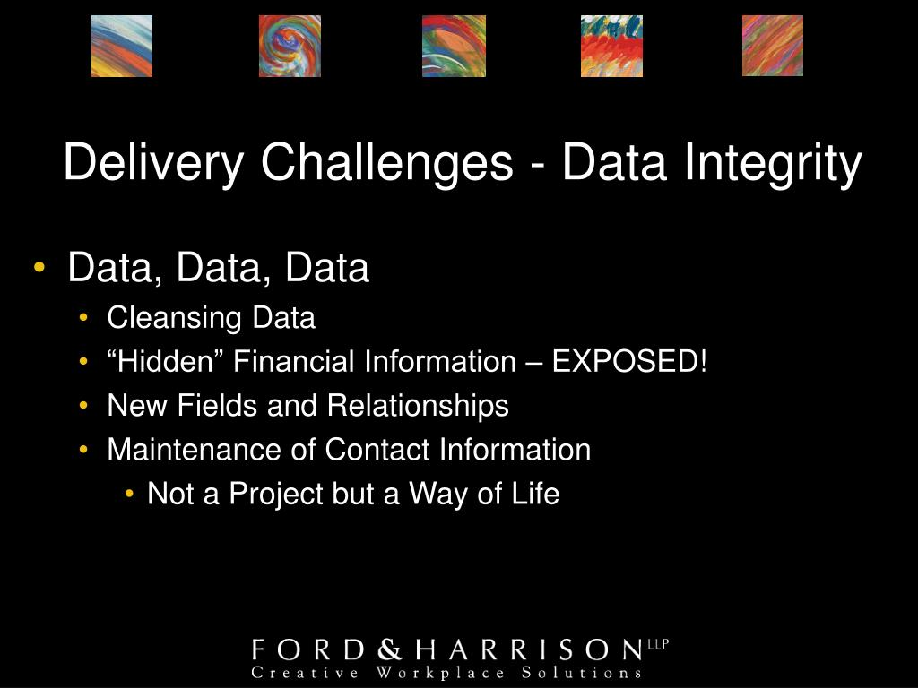 Delivery Challenges - Data Integrity