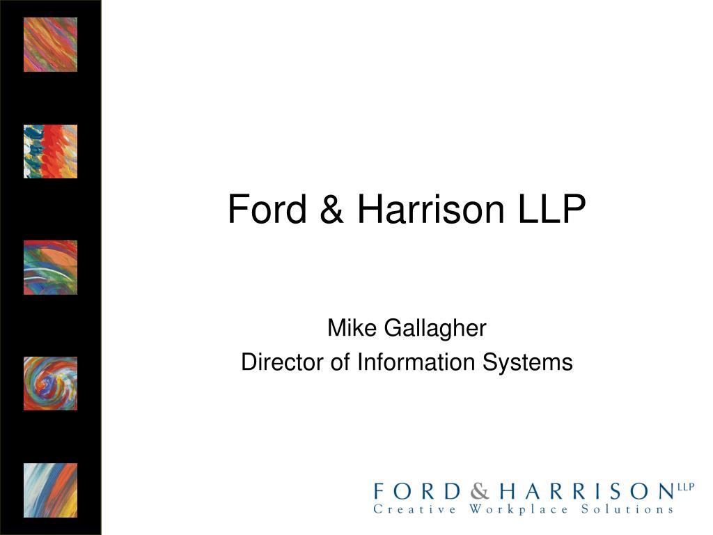 Ford & Harrison LLP