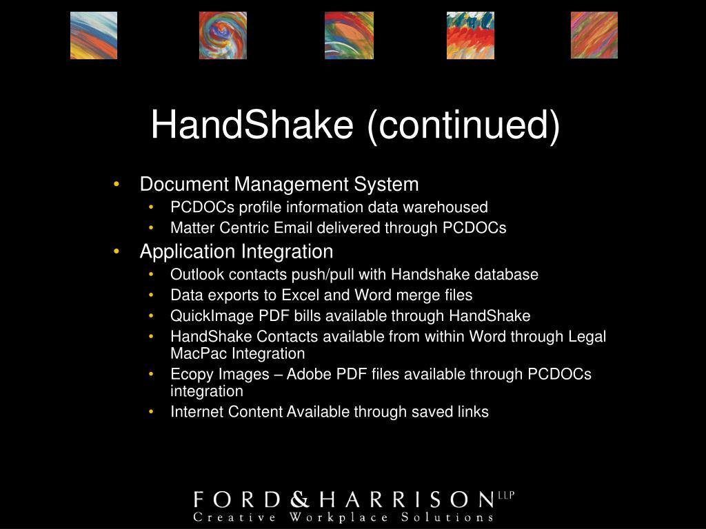 HandShake (continued)