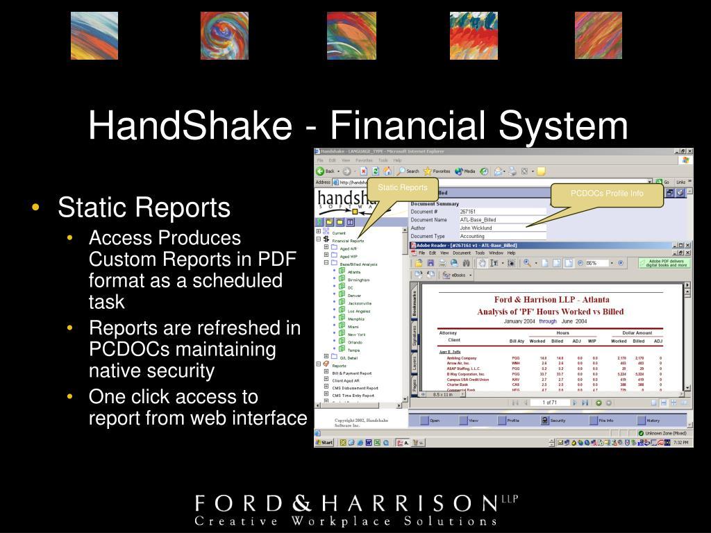 HandShake - Financial System