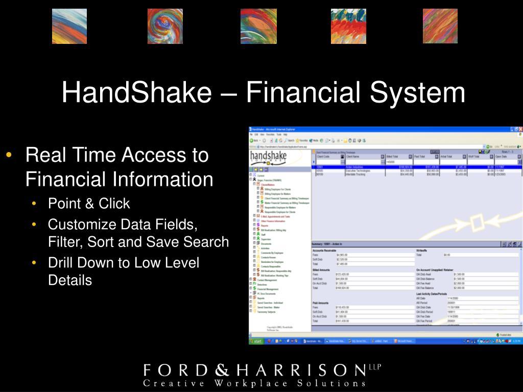 HandShake – Financial System