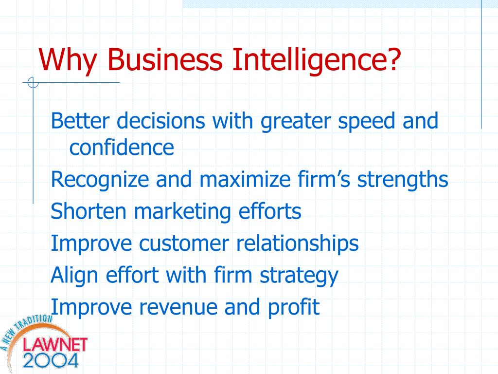 Why Business Intelligence?