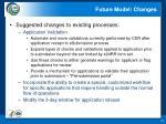 future model changes