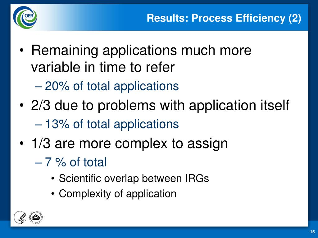 Results: Process Efficiency (2)
