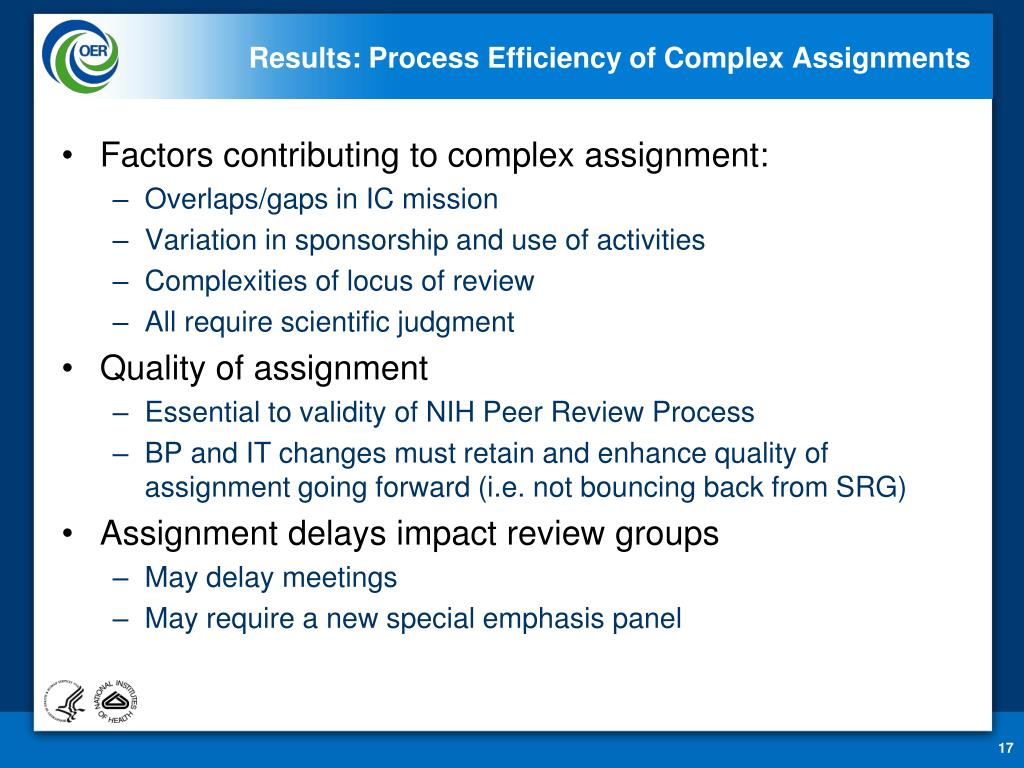 Results: Process Efficiency of Complex Assignments