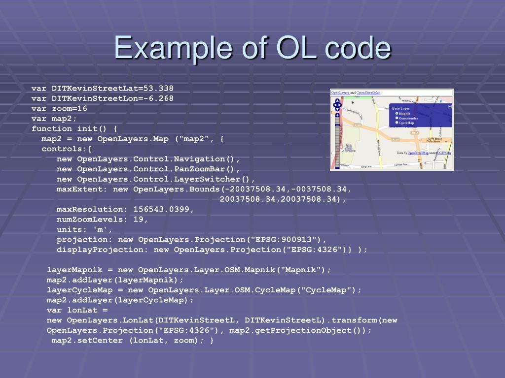 Example of OL code