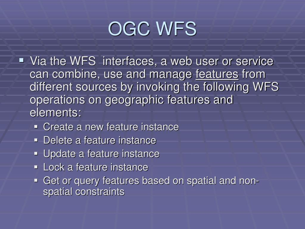 OGC WFS