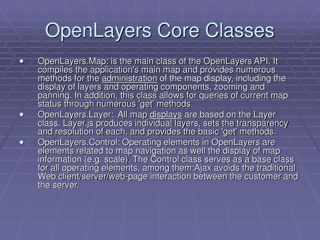 OpenLayers Core Classes
