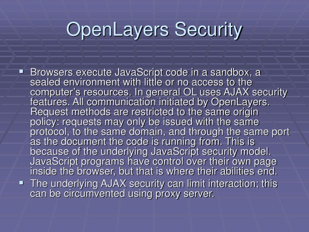 OpenLayers Security
