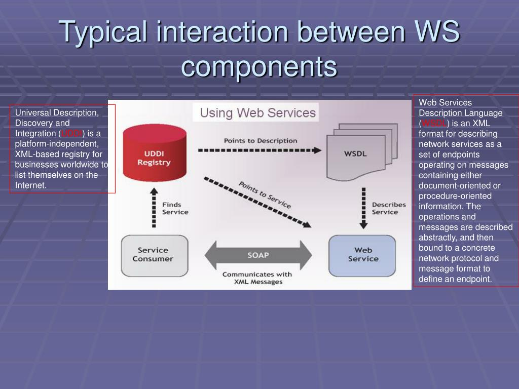 Typical interaction between WS components