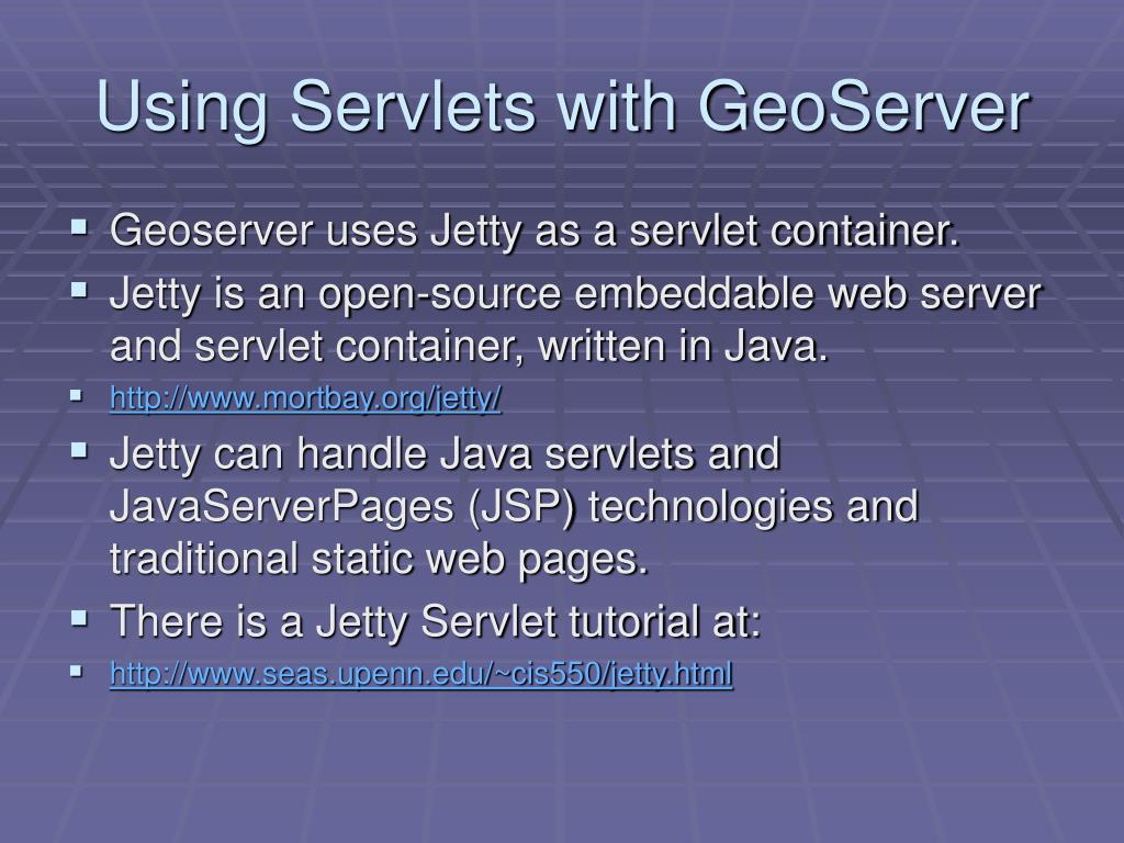Using Servlets with GeoServer
