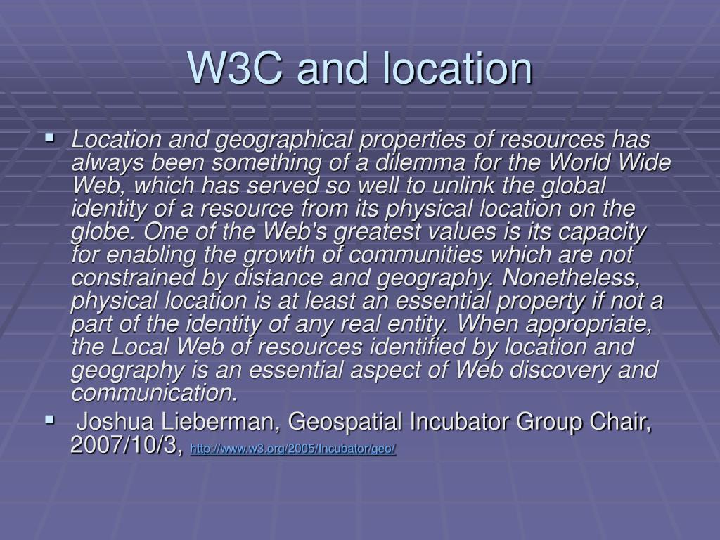 W3C and location