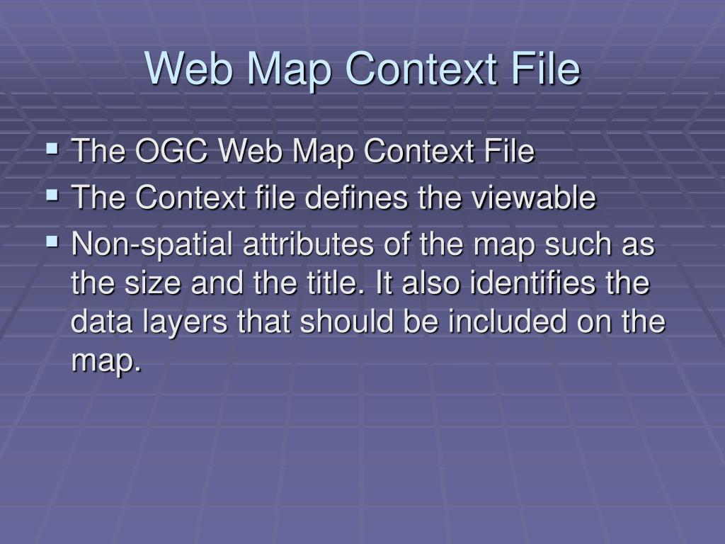 Web Map Context File