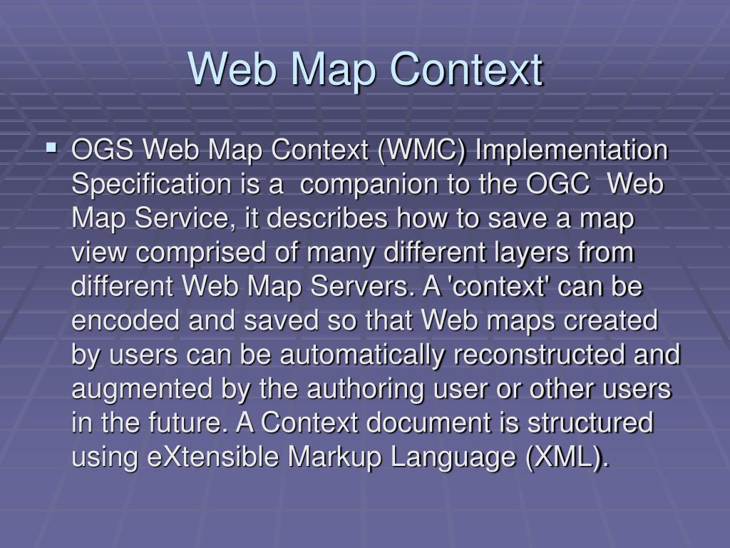 Web Map Context