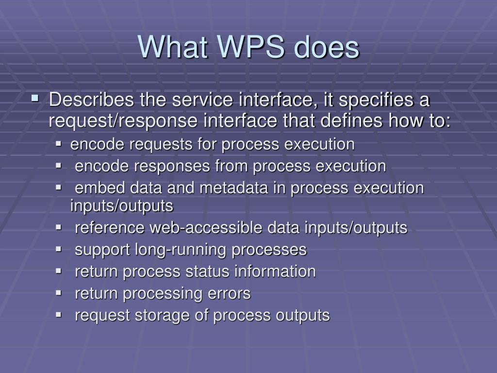 What WPS does