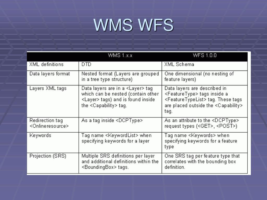 WMS WFS