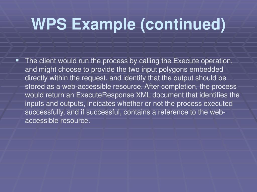 WPS Example (continued)