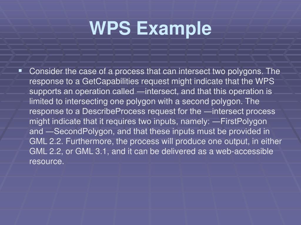 WPS Example