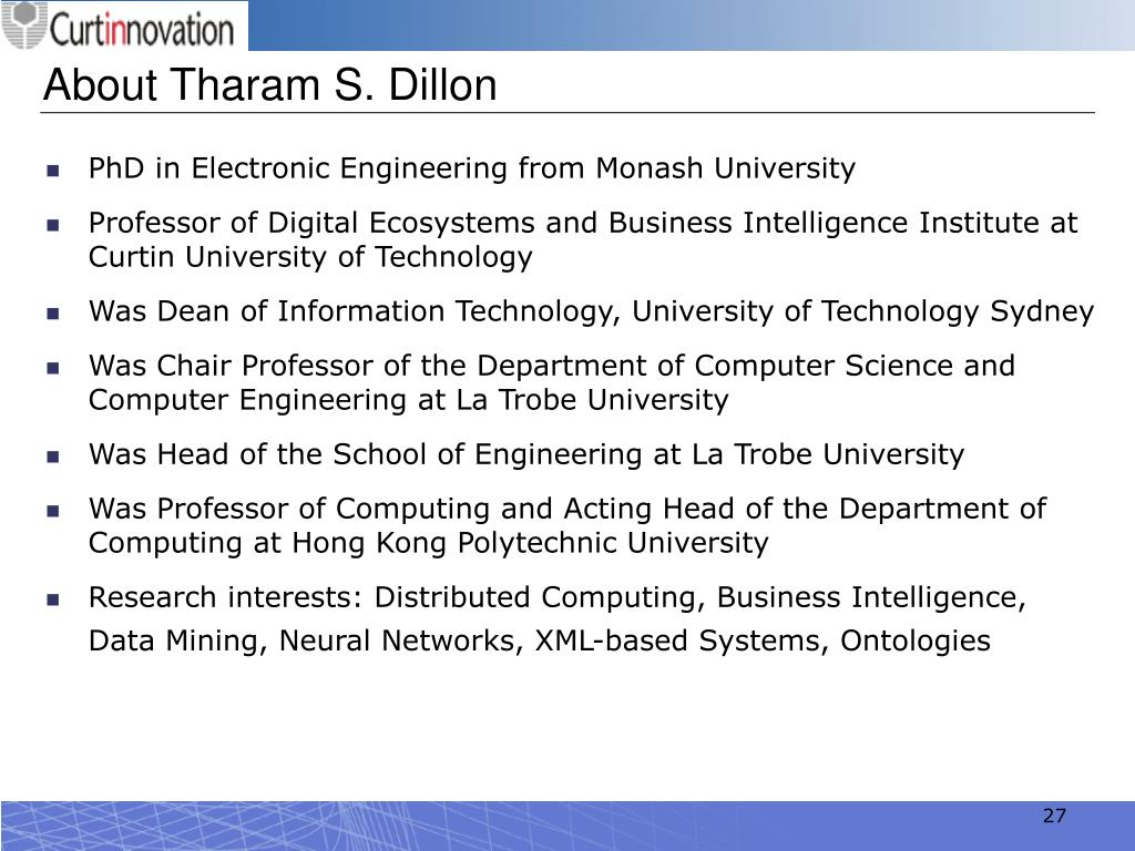 About Tharam S. Dillon