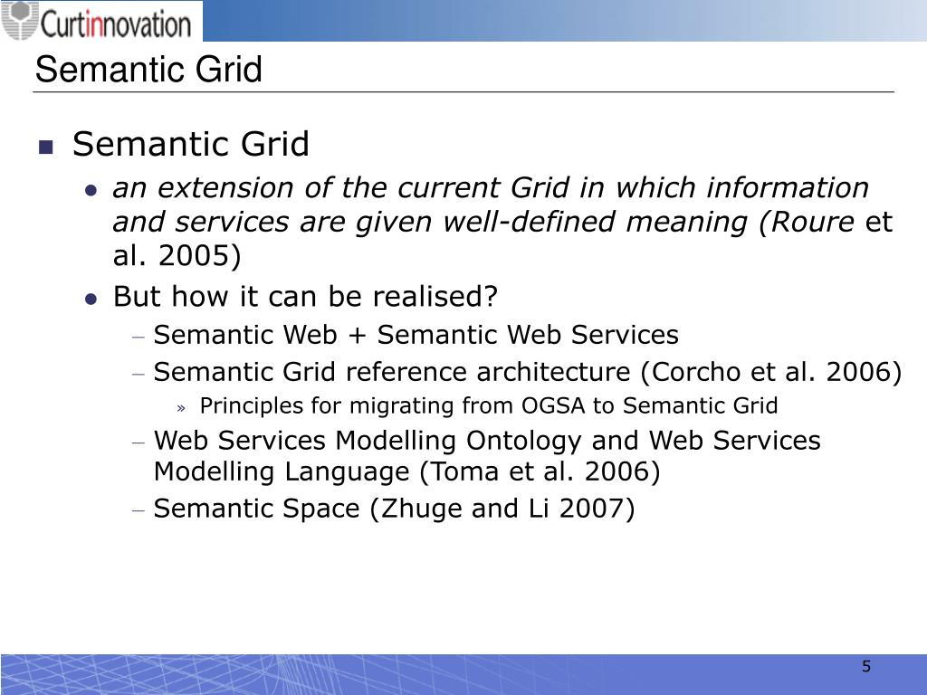 Semantic Grid