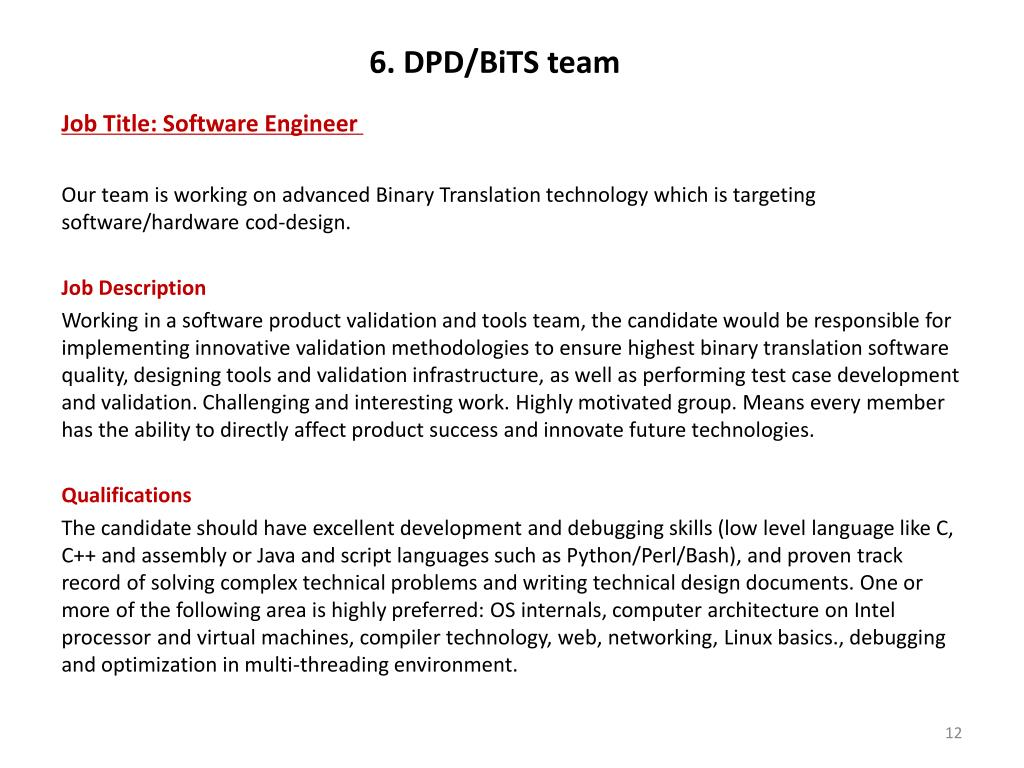 6. DPD/BiTS team