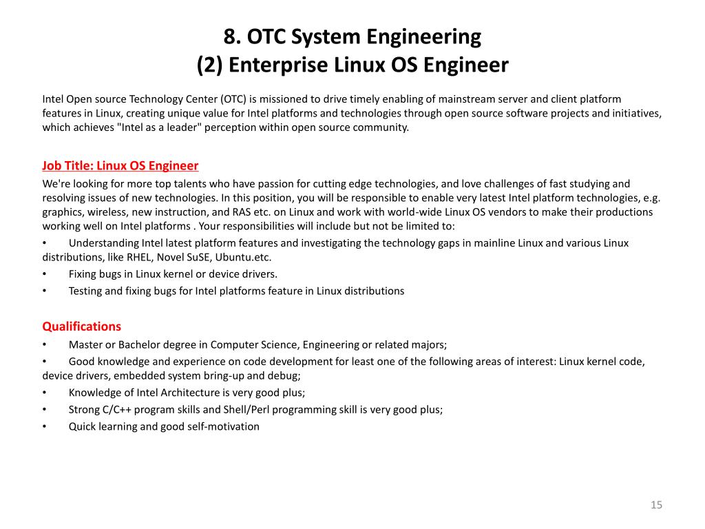 8. OTC System Engineering