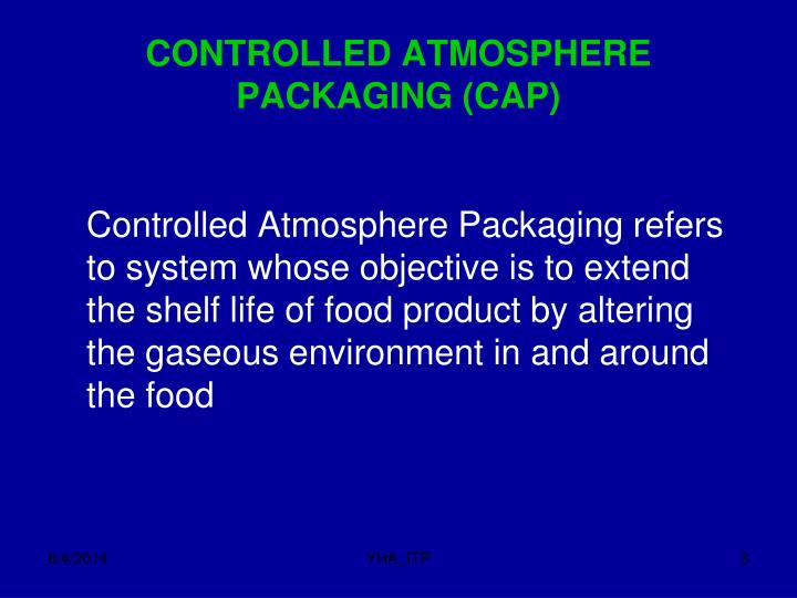 Controlled atmosphere packaging cap