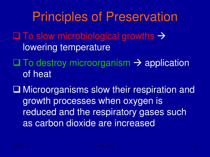Principles of Preservation
