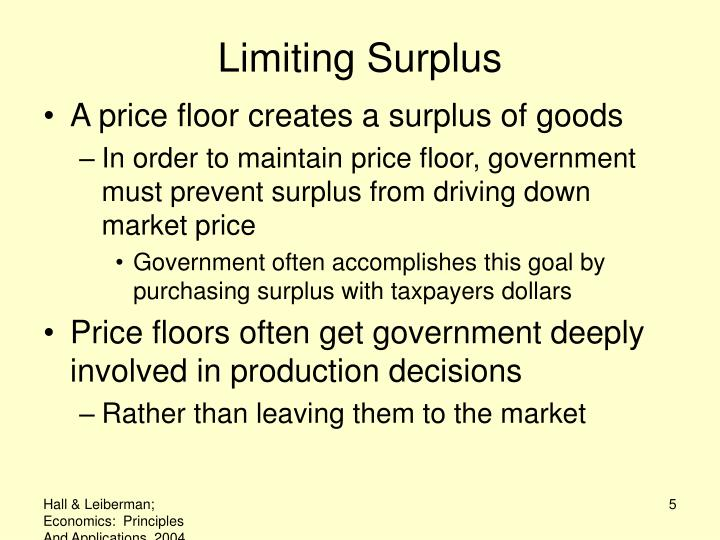 Limiting Surplus