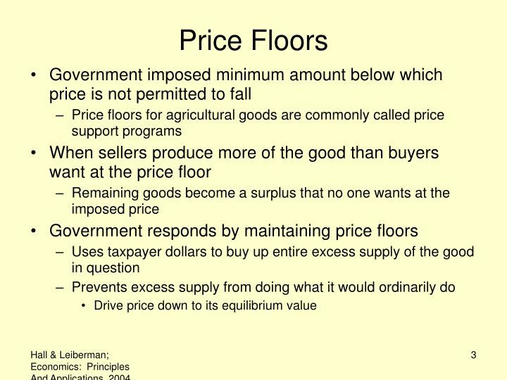 Price floors