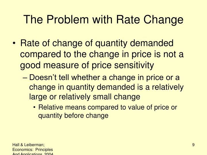 The Problem with Rate Change